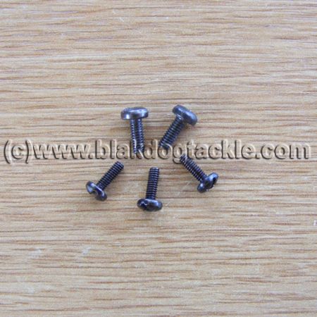 ABU Ambassadeur Black Sideplate Screw Set
