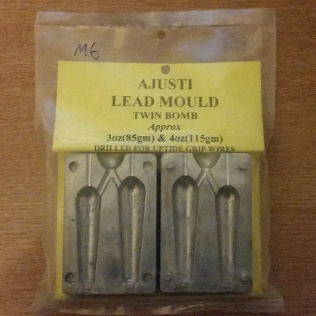 Ajusti Twin 3 and 4oz Bomb Mould - Drilled For Nose Wires