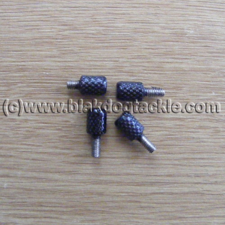 Side Plate Thumbscrews - Smooth Black - to fit USA Penn 525,