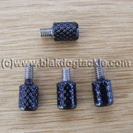 Side Plate Thumbscrews - Black - to fit USA Penn 525, 535