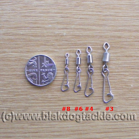 100 Koike Rolling Swivels For Fishing Various Sizes from 8 to 2//0