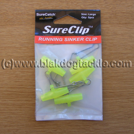 Surecatch Yellow Zip Sliders - pack of 5
