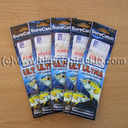 SureCatch Ultra Sabiki Rainbow Flash White (5 pack)