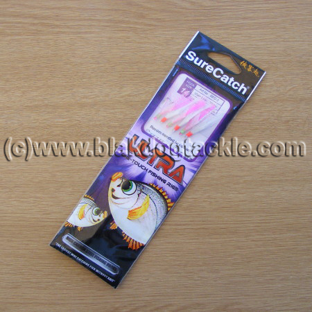 SureCatch Ultra Sabiki Rainbow Flash White/pink (single)