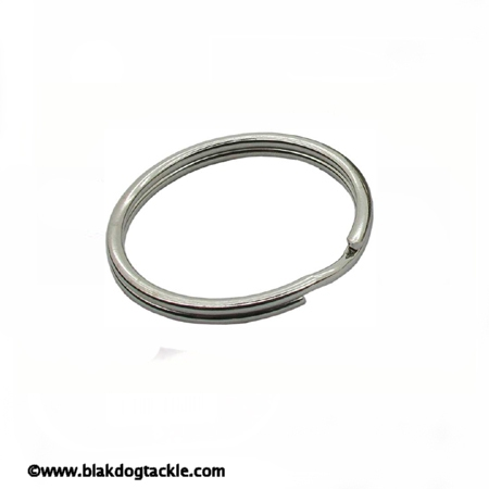 Nickle Plated Split Rings - 8mm Pack of 10