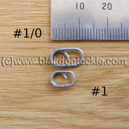 Stainless Easy Oval Split Rings #1 - pack of 200