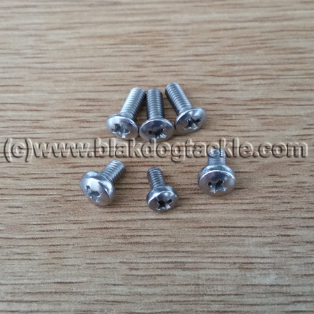 Replacement Stainless Steel Daiwa 7HT Screw Set