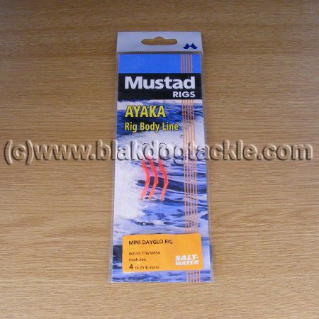 Mustad Mini Dayglo Rig - Red