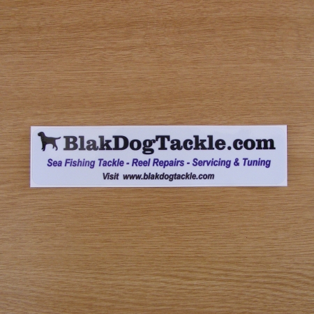 BlakDogTackle Sticker – 170 x 38mm - Free with £25 Order