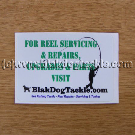 BlakDogTackle Sticker – 105 x 75mm - Free with £25 Order