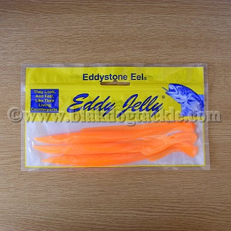 Eddyjelly Sandeels (18 cm - pack of 3) Fluorescent Orange