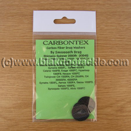 Carbontex Washers - Shimano Spinner 2500fh (Part No 3048)