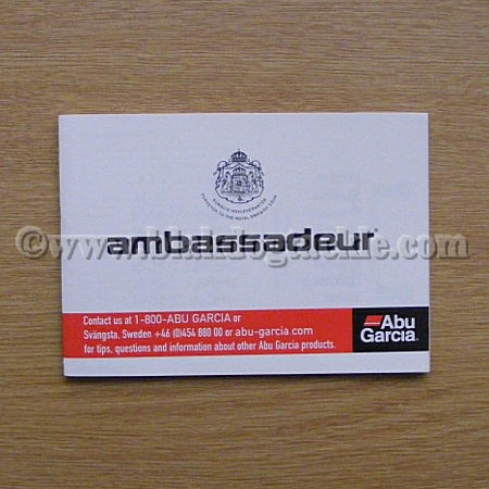 ABU Ambassadeur 64 page Owners Manual