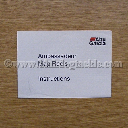 ABU Ambassadeur Mag Reel Instruction Leaflet