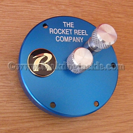Rocket Reel Co Blue RHW Tournament Casting Endplate