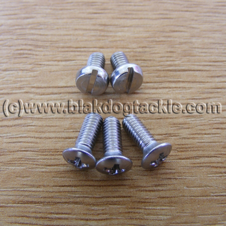 Replacement SS Daiwa 7HT Side Plate Screw Set