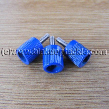 ABU 4500 5500 6500 7000 and Akios Left Side Blue Thumbscrews