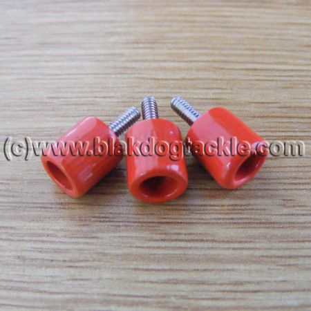 ABU 4500 5500 6500 7000 and Akios Left Side Red Thumbscrews
