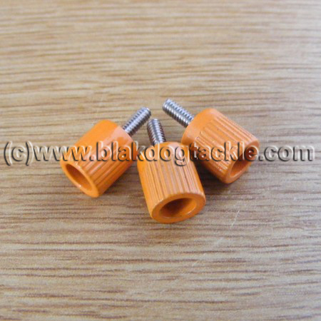 ABU 4500 5500 6500 7000 and Akios Left Side Orange Thumbscrews
