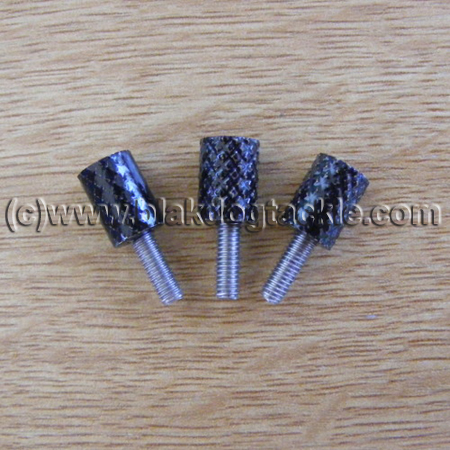 Daiwa 7HT Side Plate Thumbscrews - Black to fit all models