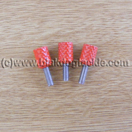 Daiwa 7HT Side Plate Thumbscrews - Red to fit all models