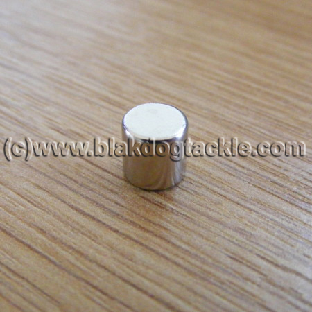 Nickle Plated Neodymium Disc Magnet - 6x5 mm