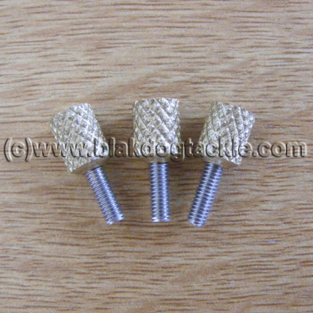Daiwa 7HT Side Plate Thumbscrews - Gold to fit all models