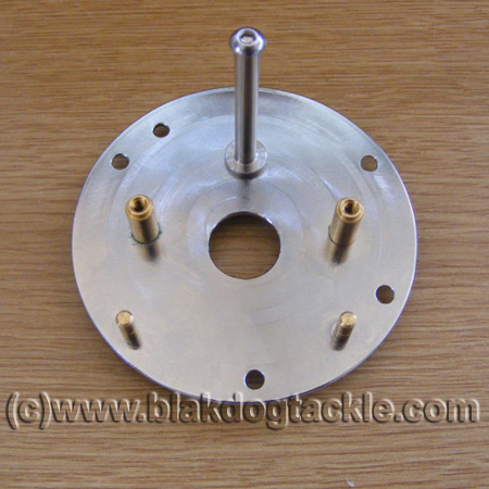 Rocket Reel Company Chromed Brass Brake Plate