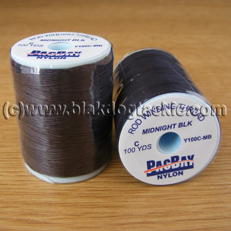 PacBay Standard Nylon Thread - Black 100 Yards