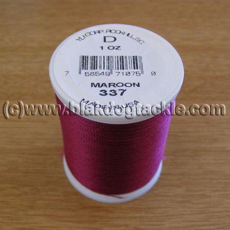 Fish Hawk D Grade Whipping Thread - Maroon 1oz