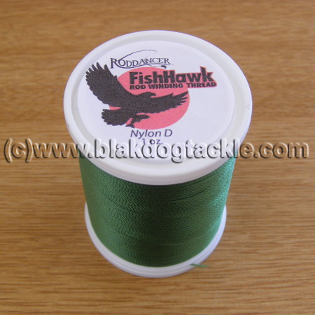 Fish Hawk D Grade Whipping Thread - Medium Green 1oz