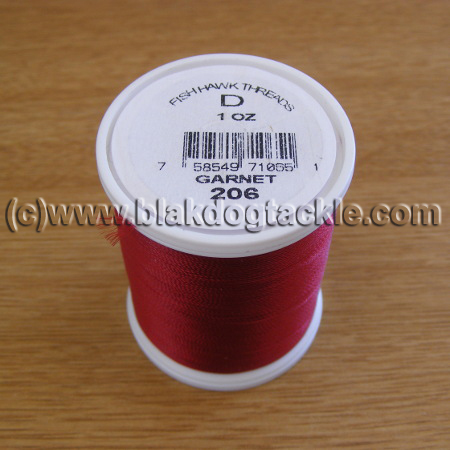Fish Hawk D Grade Whipping Thread - Garnet 1oz
